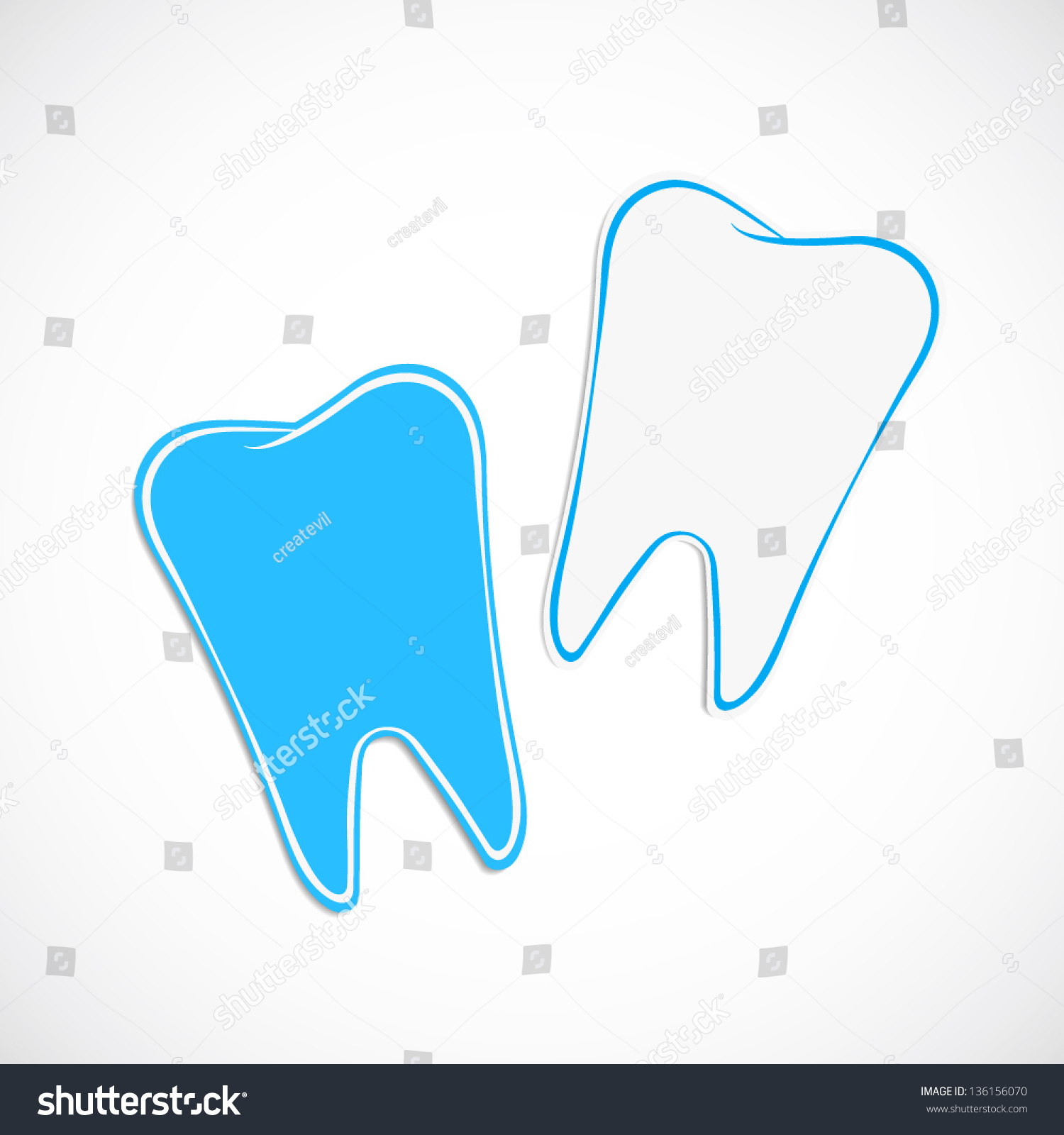Dentist Business Card Template Icon Stock Vector