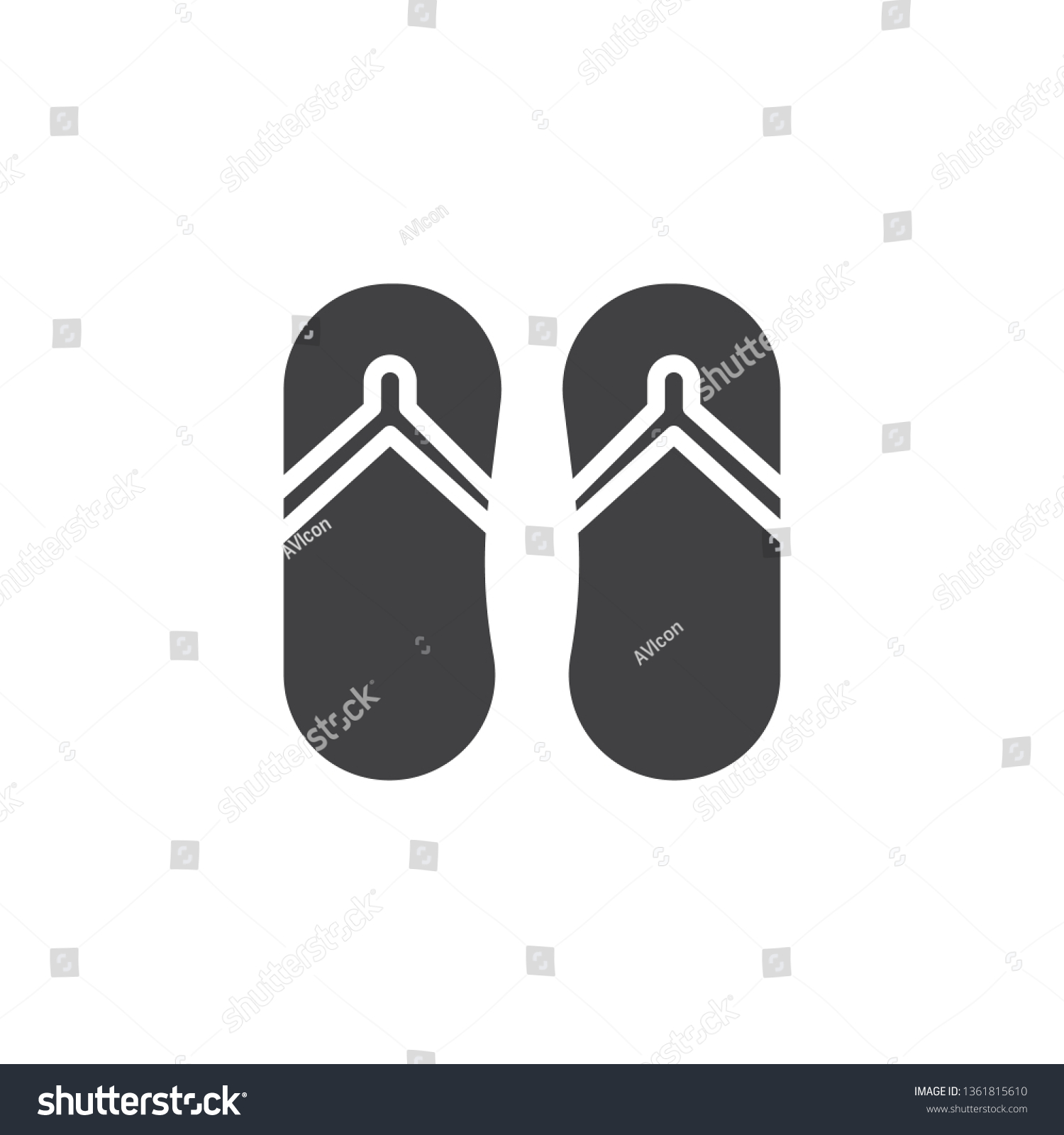 7a41eccd74ea Flip flops vector icon. filled flat sign for mobile concept and web design.  Beach