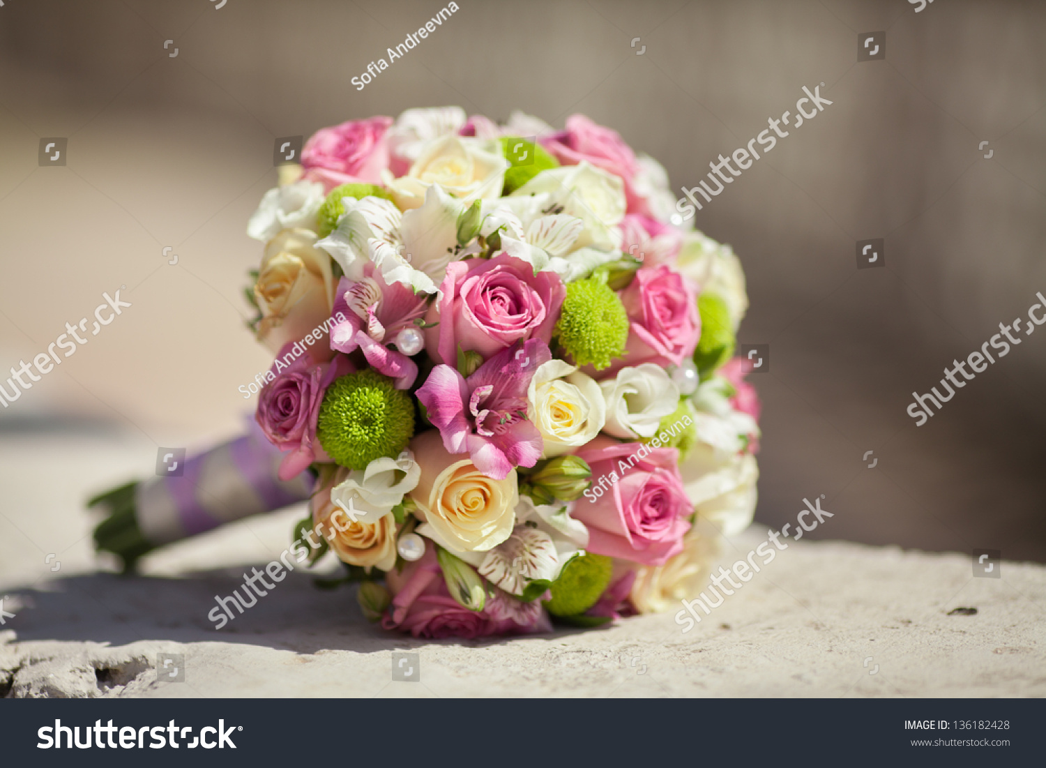 Beautiful Wedding Bouquet Bride Wedding Flowers Stock Photo Edit