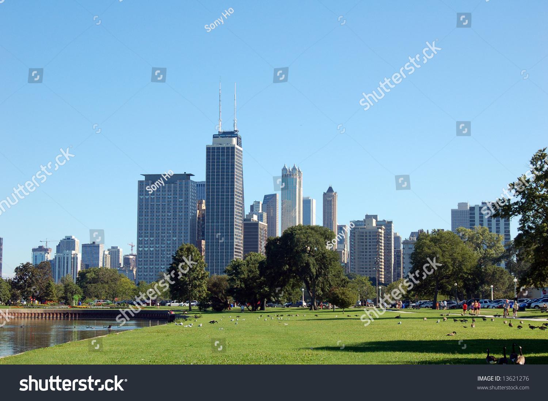 Chicago landscape stock photo 13621276 shutterstock for Chicago landscape