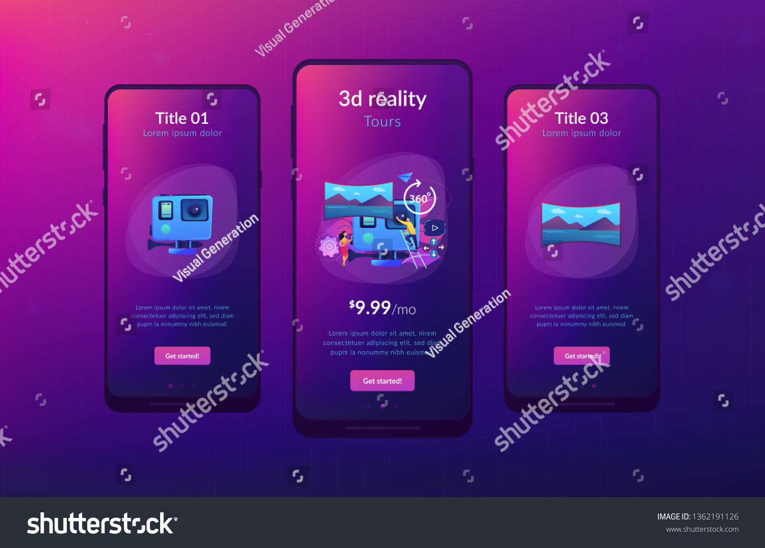 Business People On Virtual Reality Tour Stock Vector