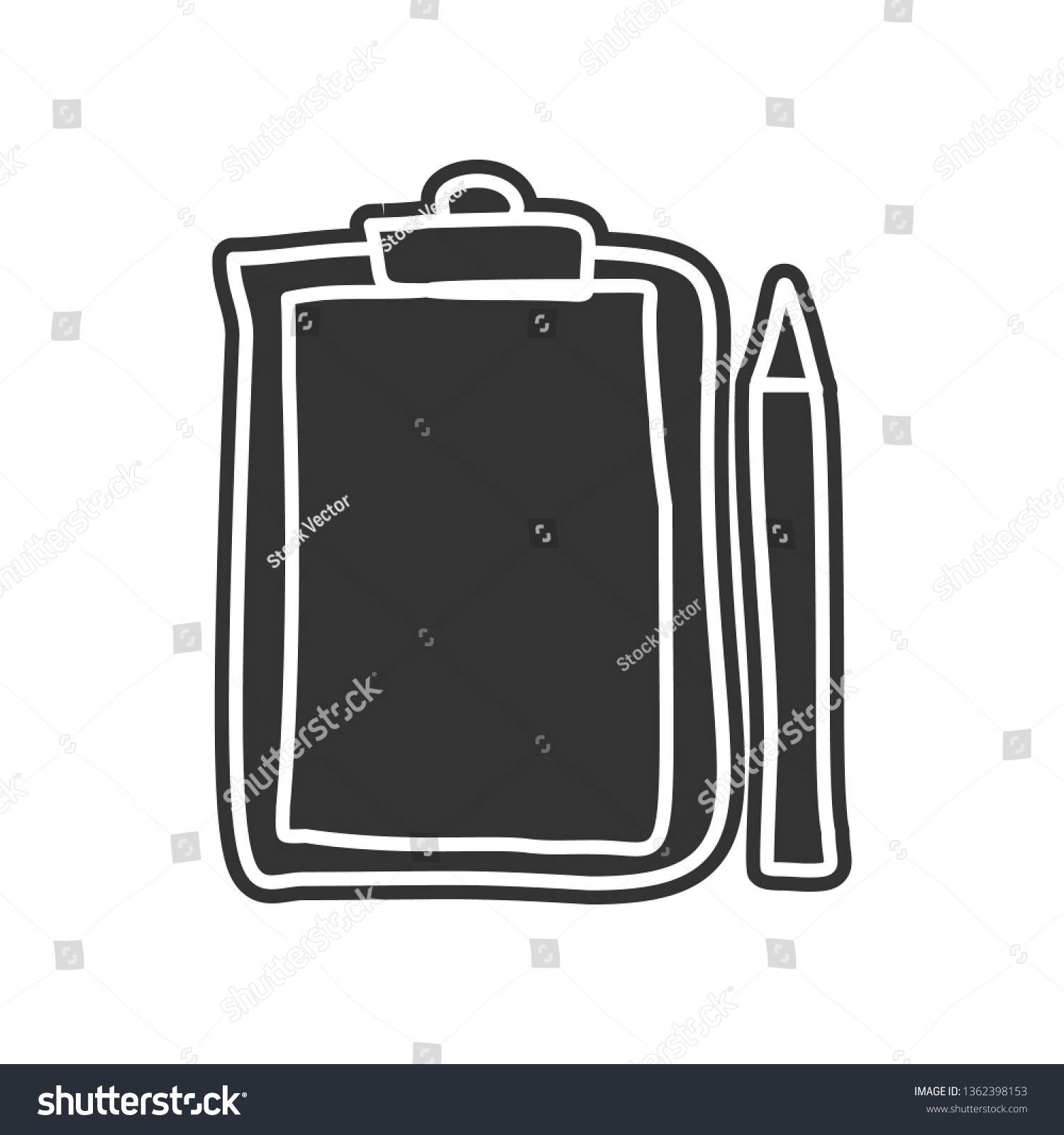 Folder tablet and pencil sketch icon element of education for mobile concept and web apps