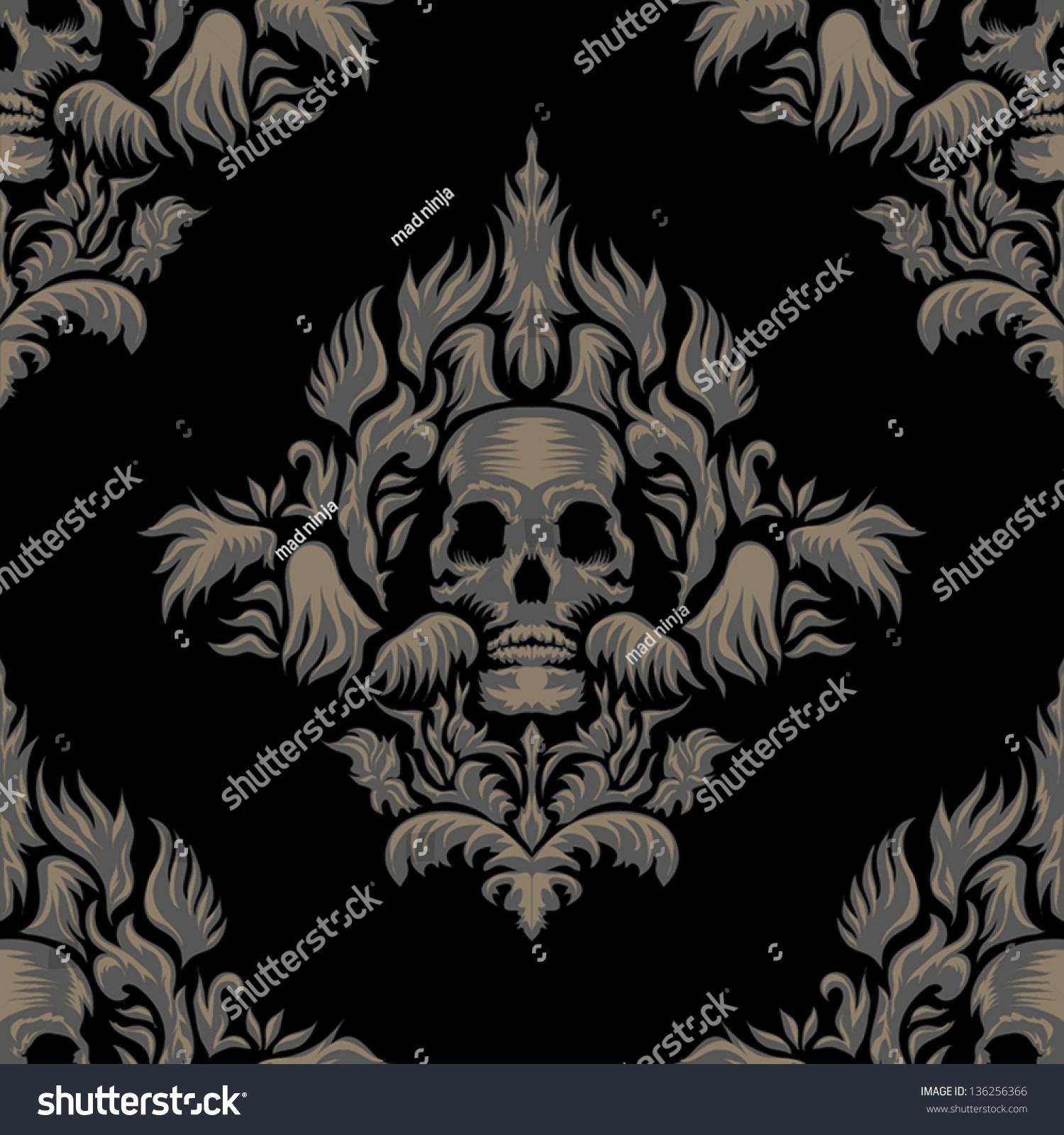 Victorian Gothic Damask Pattern
