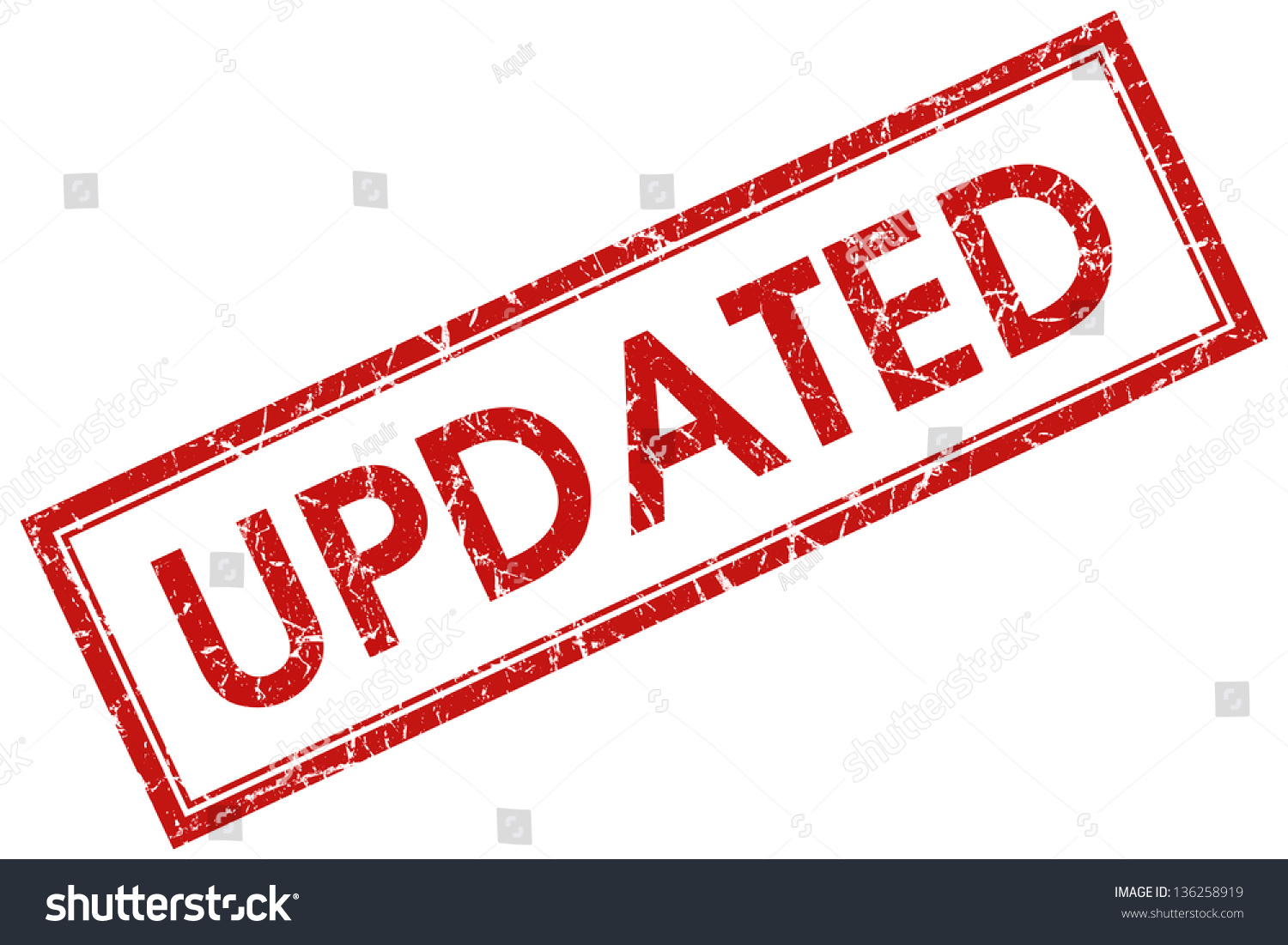 Http Www Shutterstock Com Pic 136258919 Stock Photo Updated Stamp Html
