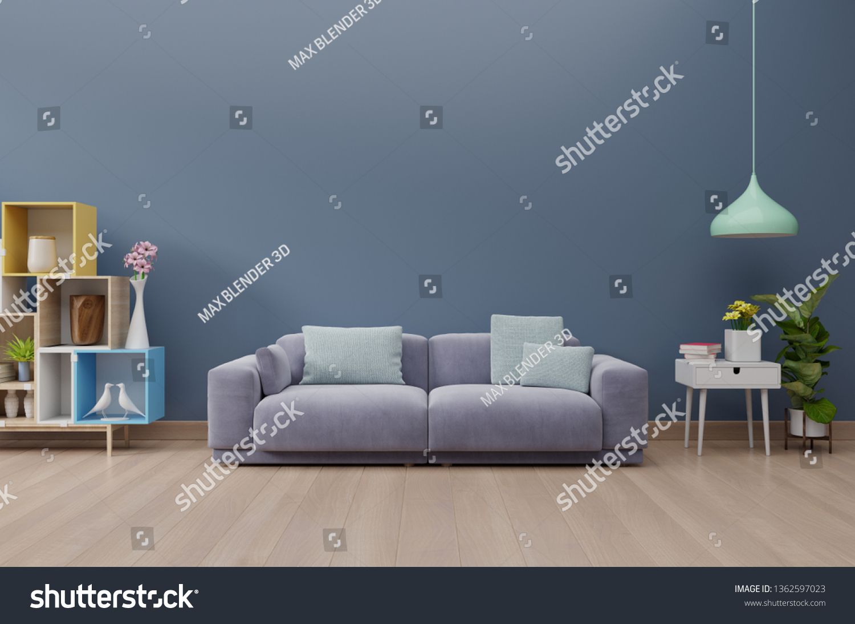 Modern Living Room Interior Sofa Green ...