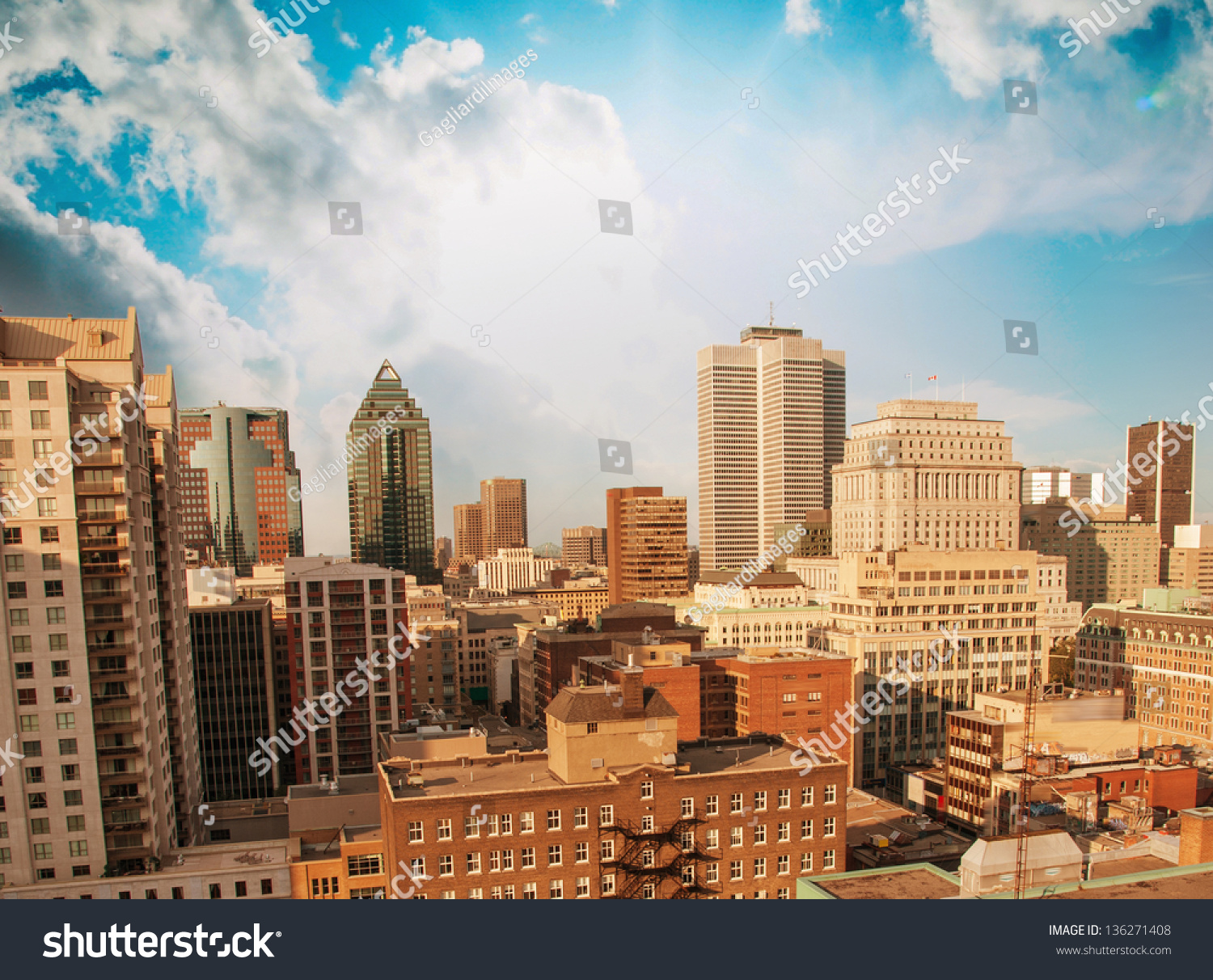 Beautiful modern buildings and skyscrapers stock photo for Beautiful modern buildings