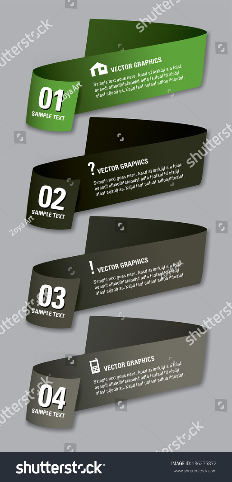 Modern Vector Design Template Numbered Banners Stock Vector ...
