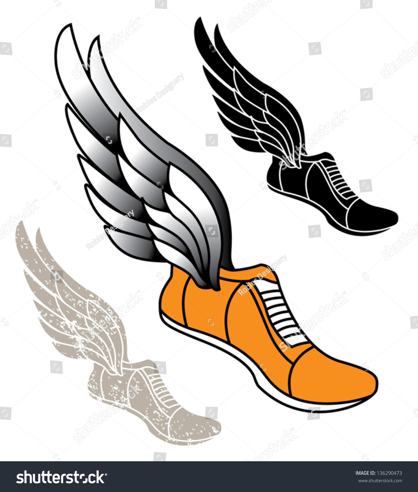 track athletic sports running shoe logo stock vector 136290473 rh shutterstock com