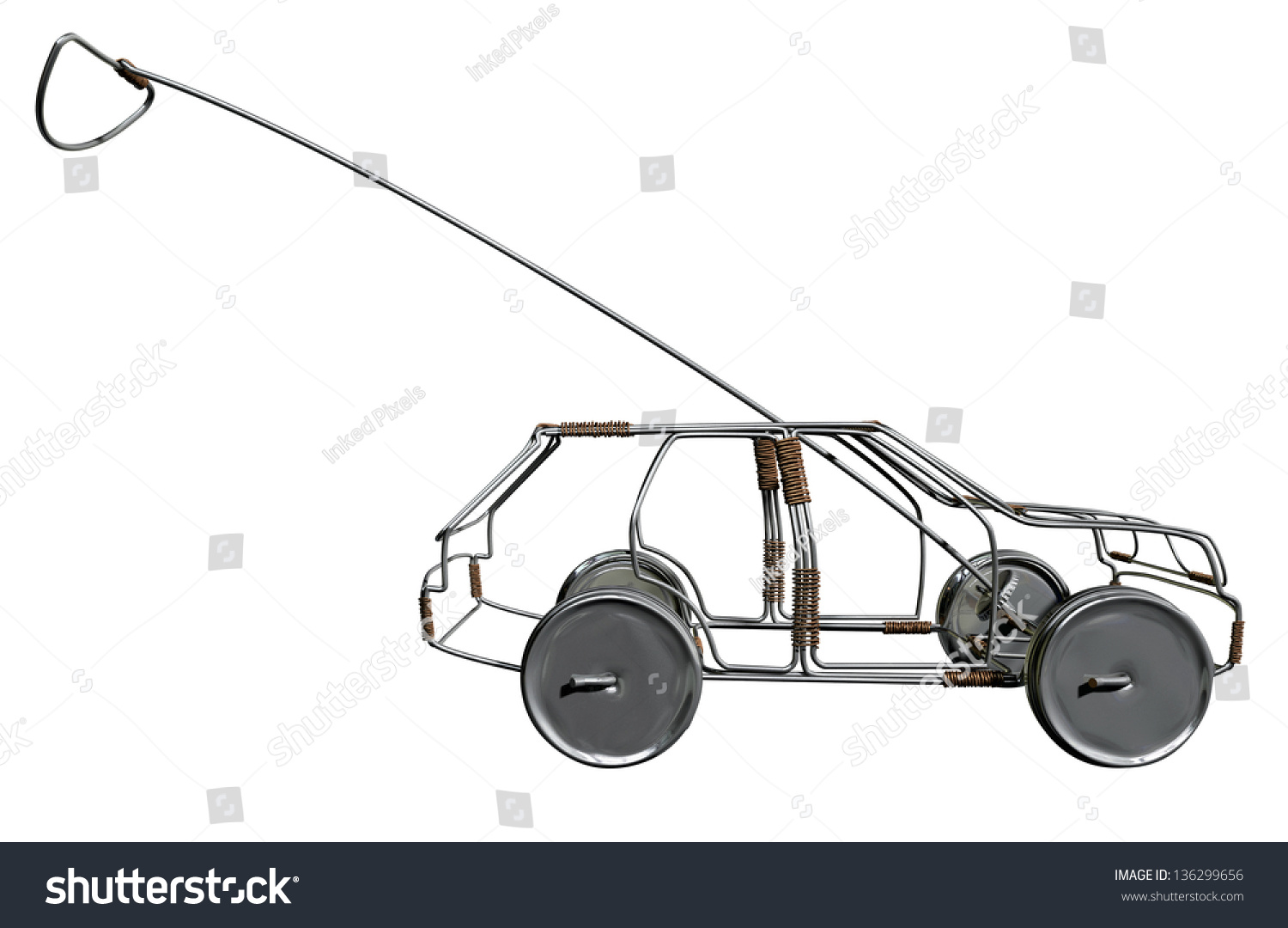 Car Made In Aluminum : Traditional south african handmade wire toy stock