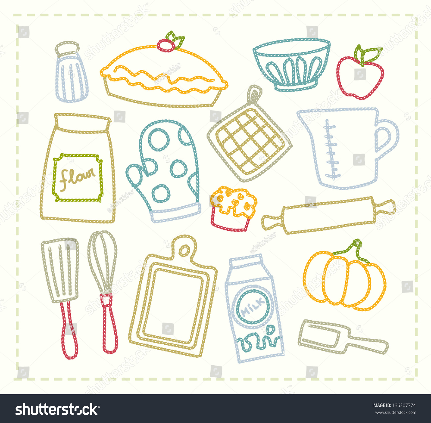 Baking Supplies Illustration 28640