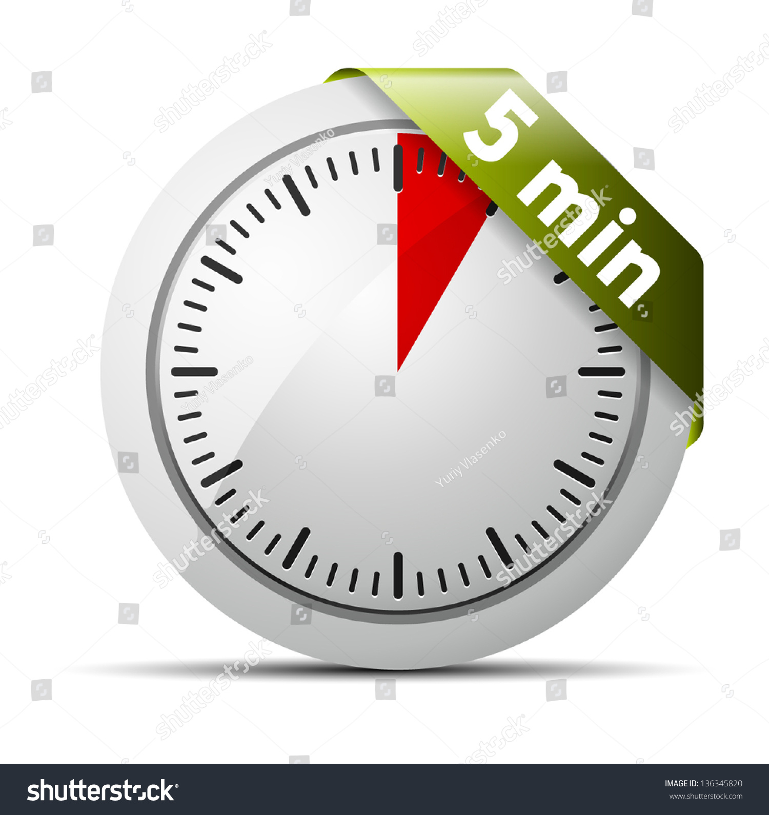 5 minutes timer stock vector royalty free 136345820 shutterstock