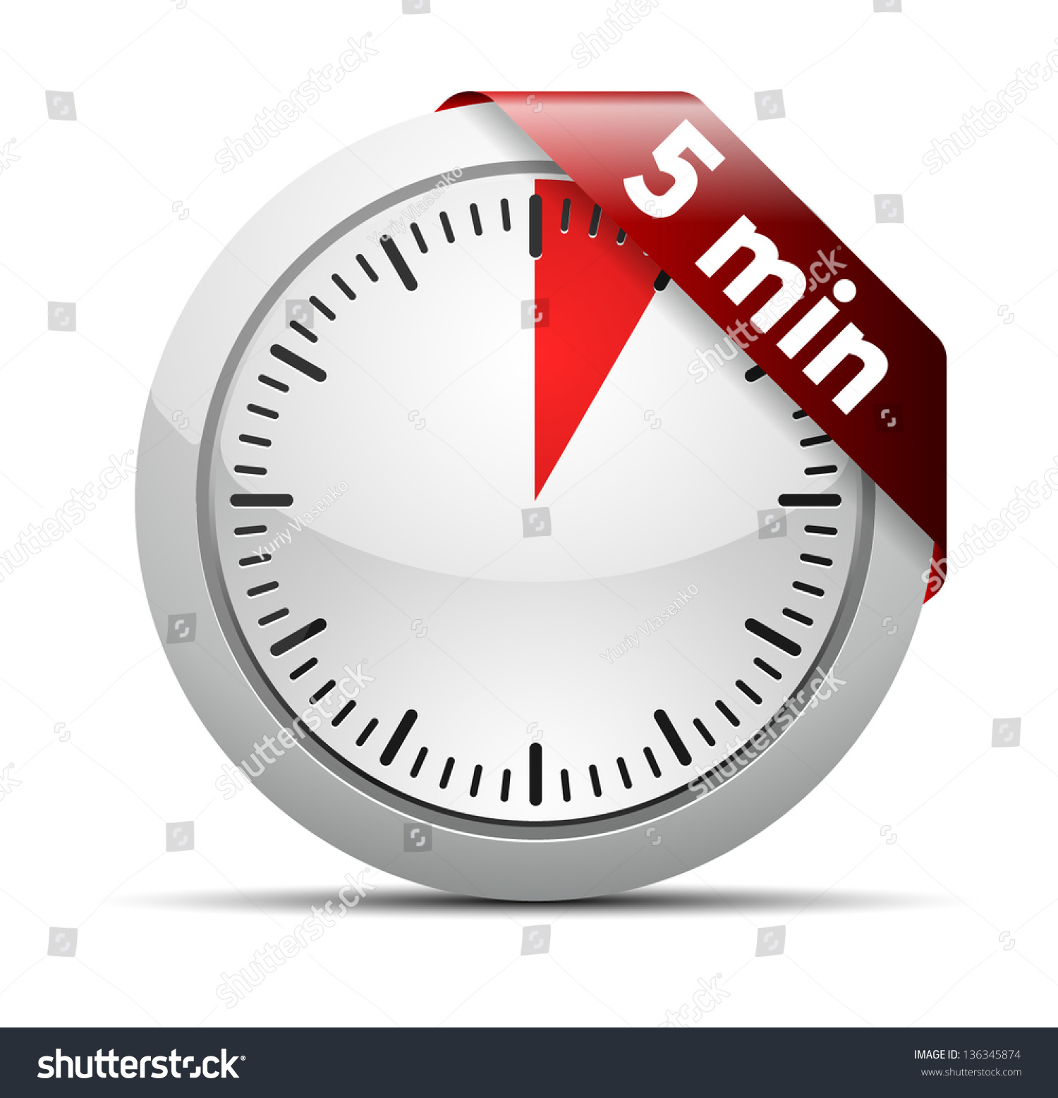 5 Minutes Timer Stock Vector 136345874 - Shutterstock