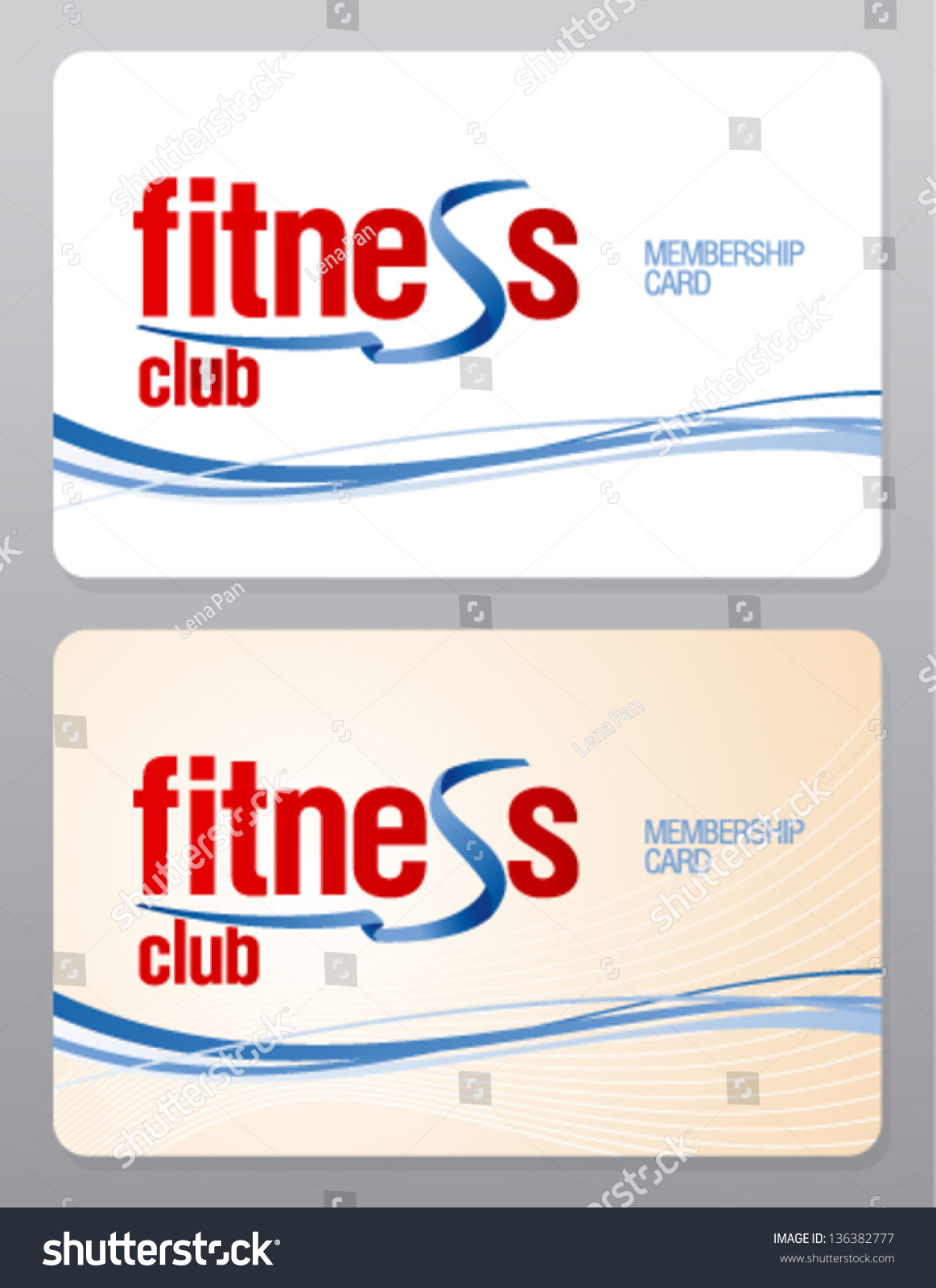 Fitness Club Membership Card Design Template Vector – Membership Card Template