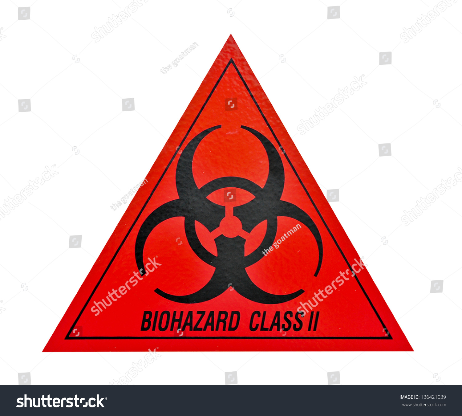 Biohazard Class Ii Symbol Sign Biological Stock Photo Edit Now