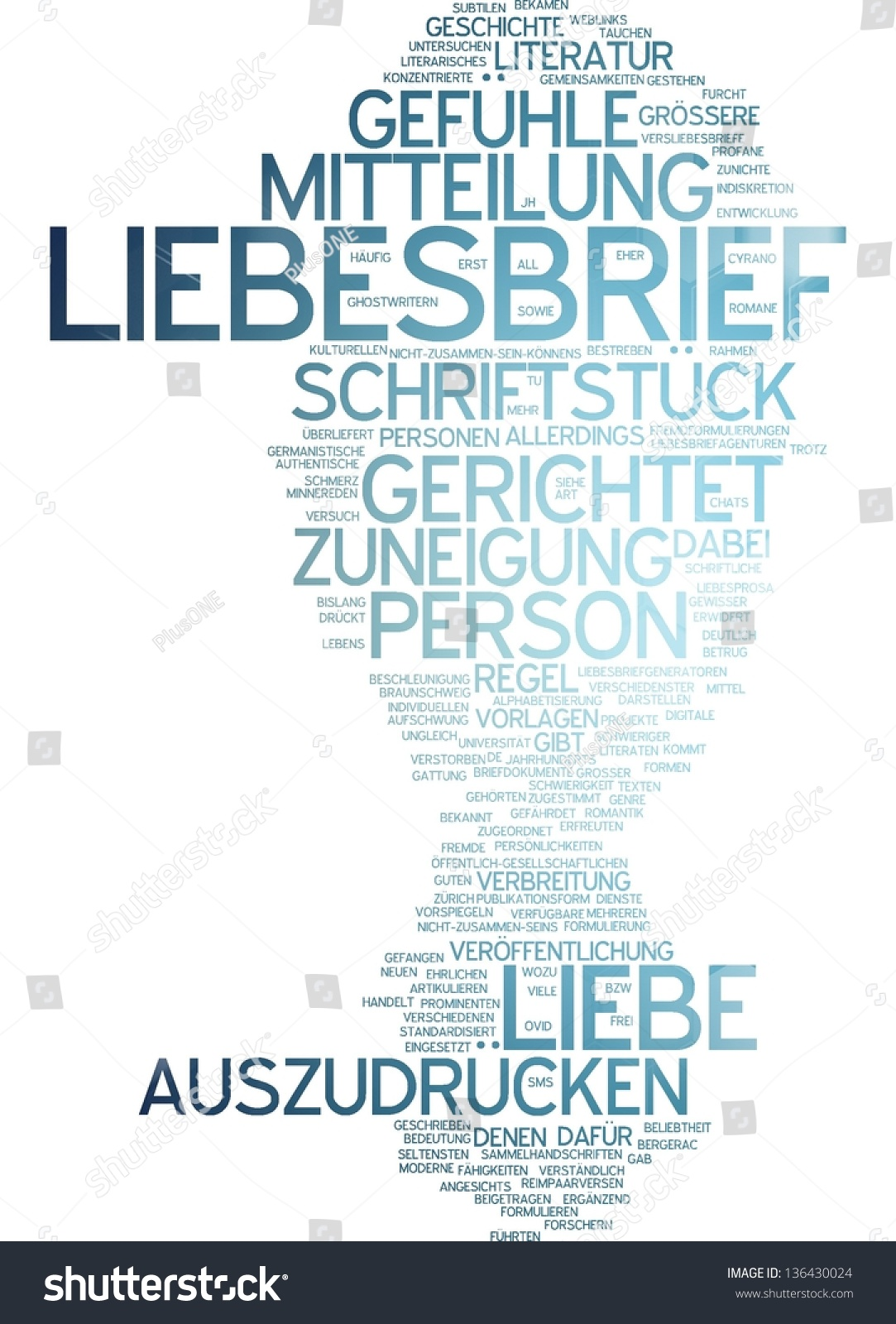 Word Cloud Love Letter Stock Illustration 136430024 - Shutterstock