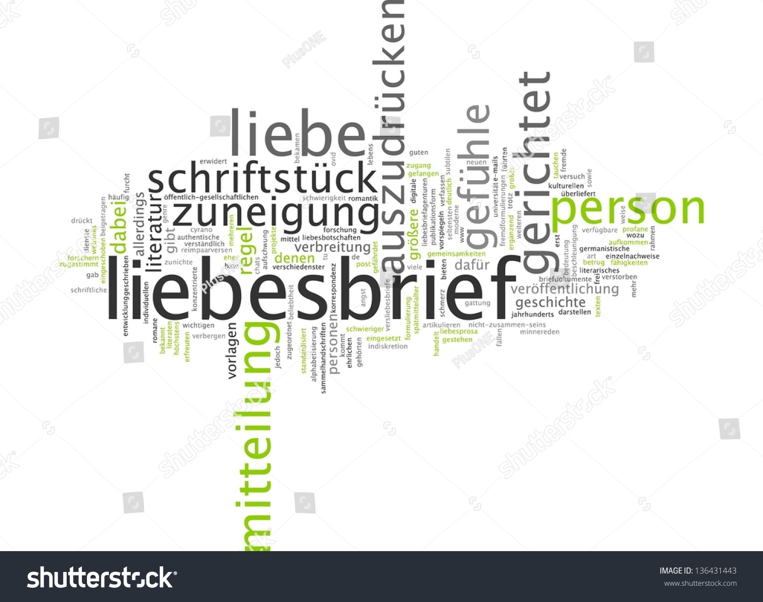 Word Cloud Love Letter Stock Illustration 136431443 - Shutterstock