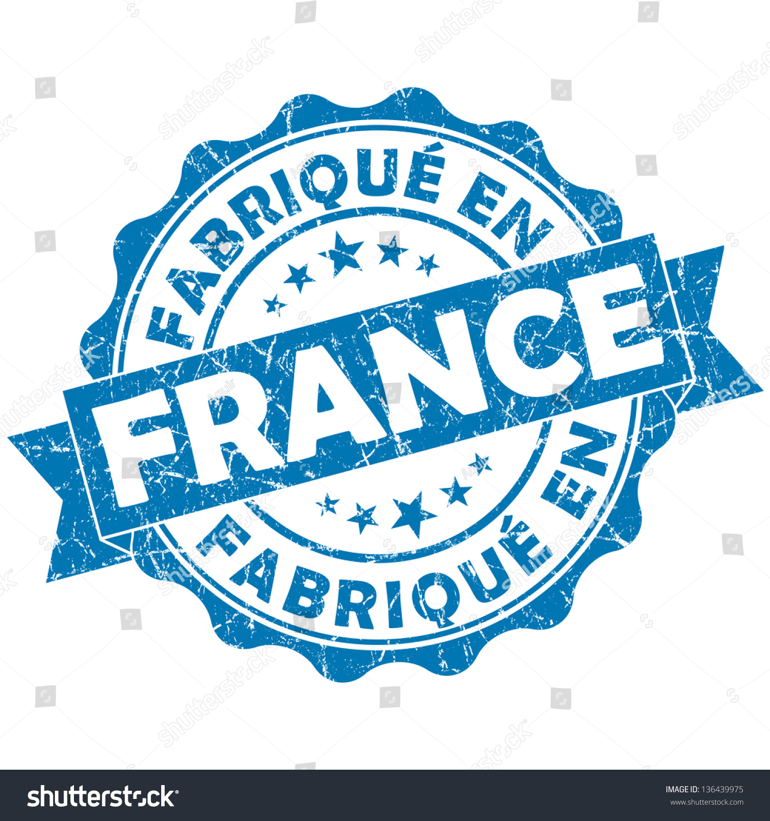 fabrique en france stamp stock illustration 136439975 shutterstock. Black Bedroom Furniture Sets. Home Design Ideas
