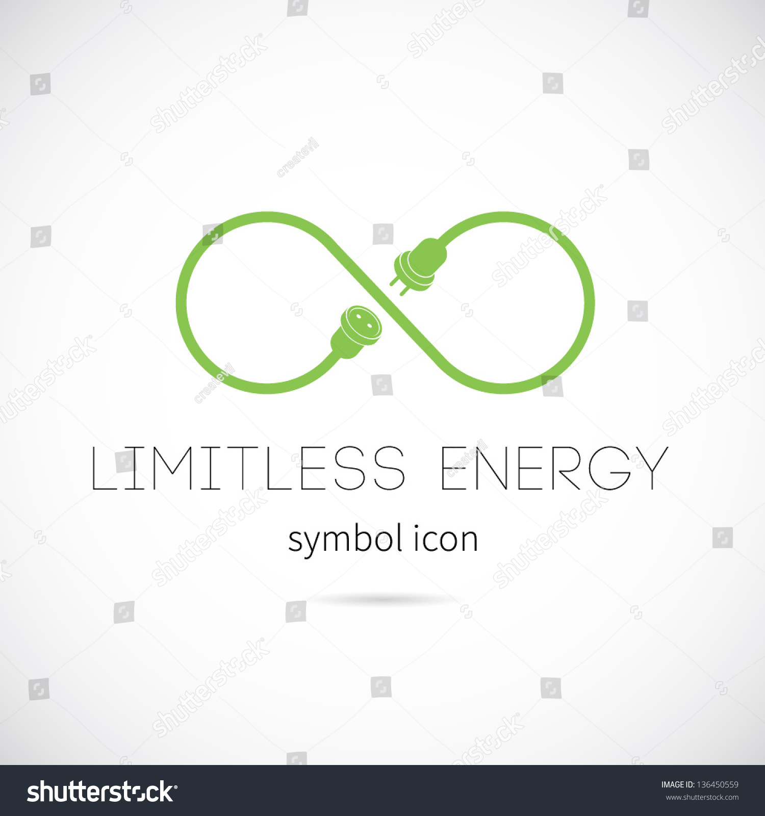 Limitless Energy Vector Symbol Icon Or Logo - 136450559 : Shutterstock