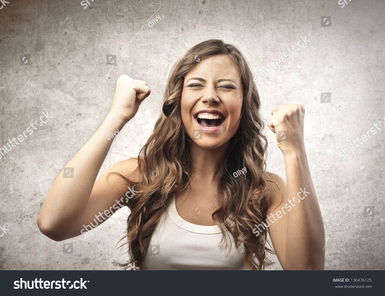 Portrait Happy Woman Stock Photo 136476125 - Shutterstock