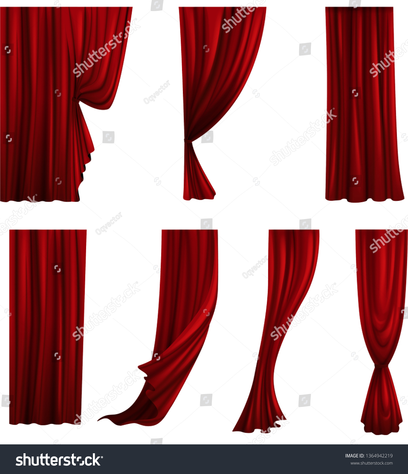 Download transparent red curtains with tassels clipart png photo | TOPpng