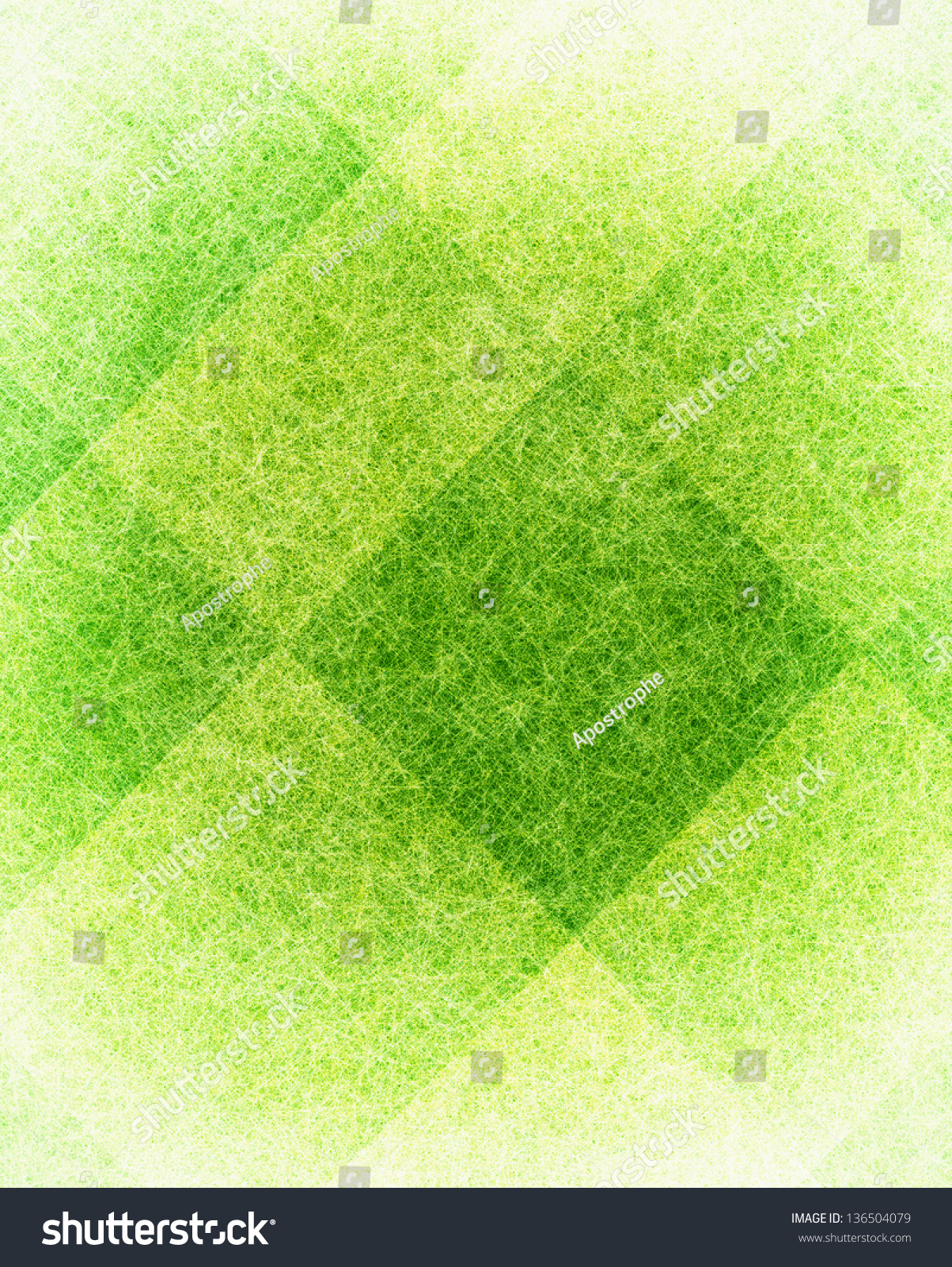 Abstract Green Background Yellow White Parchment Stock Illustration ...