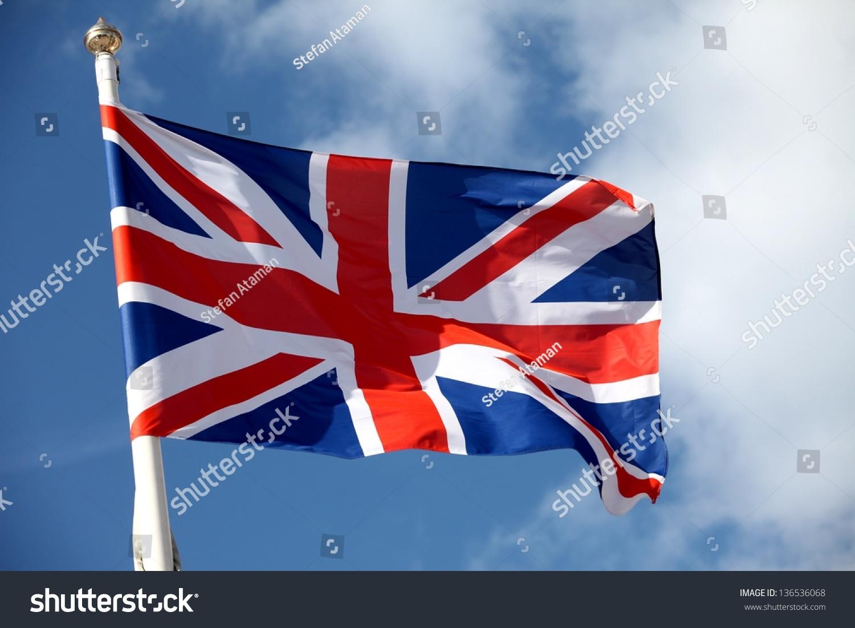 british flag waving wind stock photo 136536068 shutterstock
