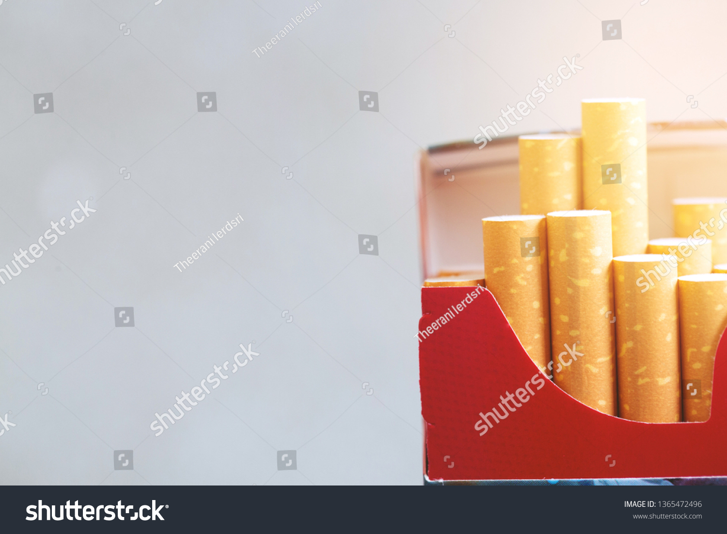 Cigarette Pack Free Space Notes Stock Photo (Edit Now