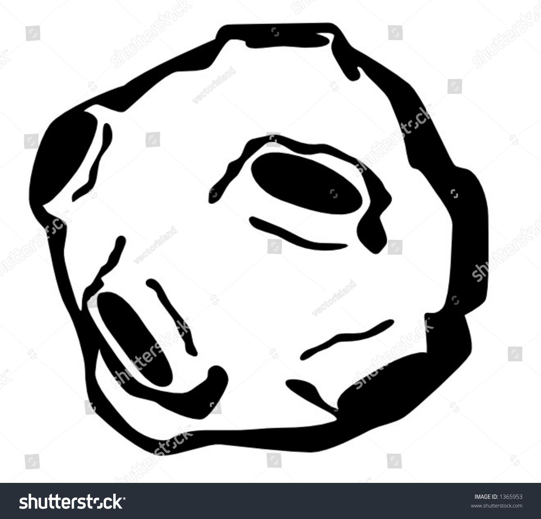 asteroid stock vector royalty free 1365953 shutterstock rh shutterstock com Solar System Clip Art Black and White Constellation Clip Art Black and White