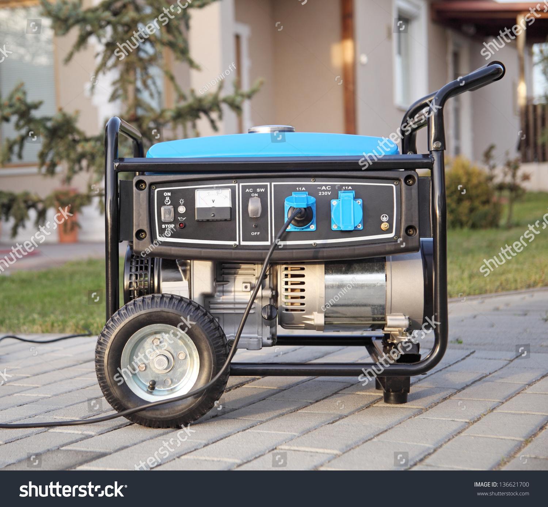 Gasoline Powered Portable Generator Home Stock