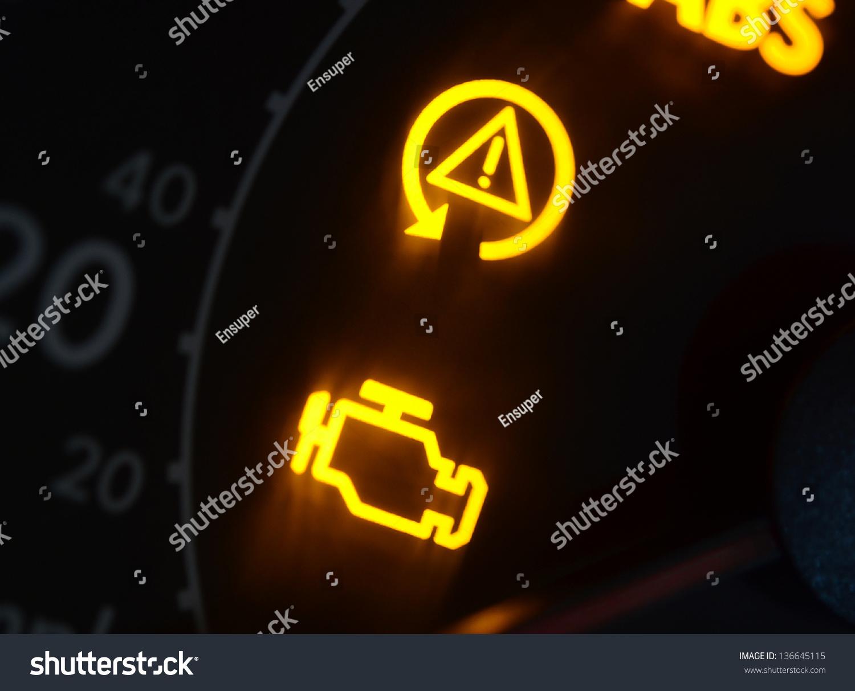 Malfunction check engine car symbols dash stock photo 136645115 malfunction or check engine car symbols dash board close up buycottarizona