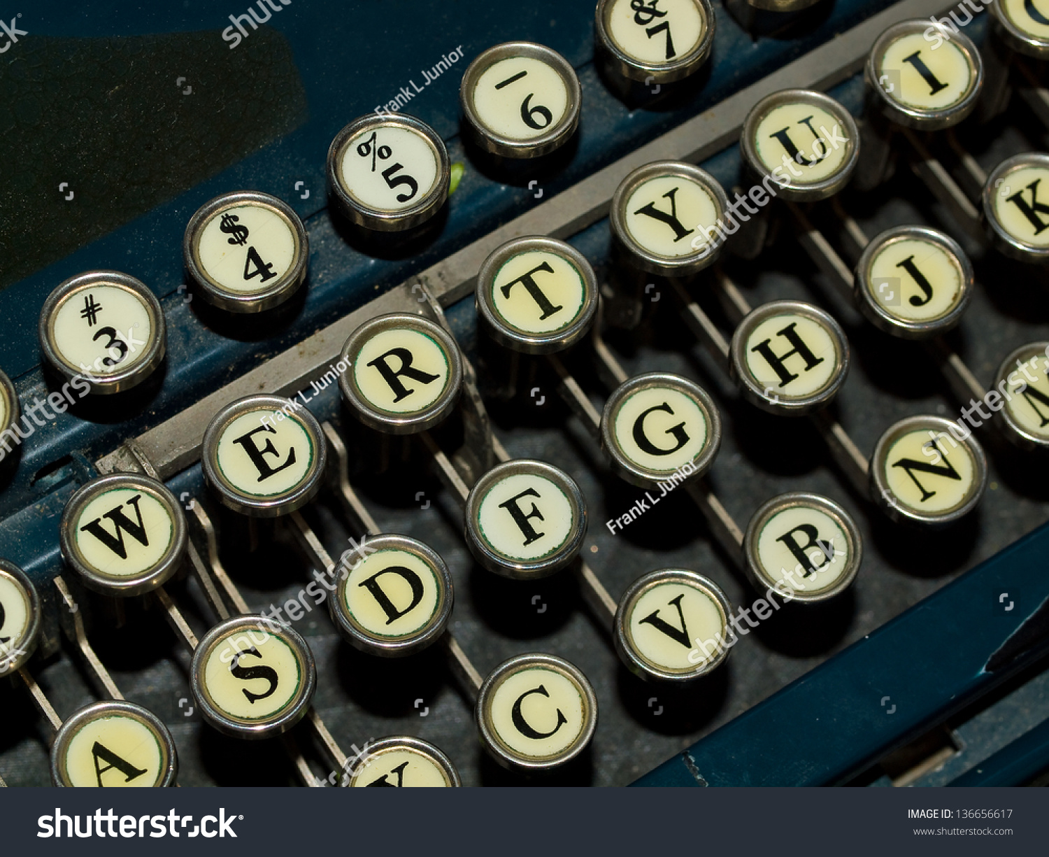Closeup Old Manual Typewriter Keyboard Stock Photo Edit Now