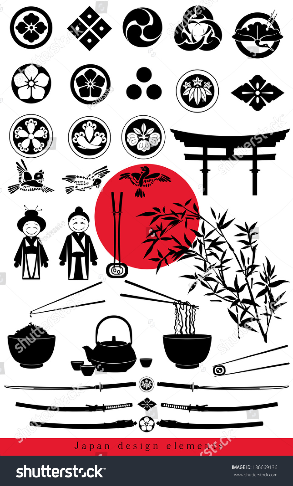 Japanese Design. Motifs On Japanese Pottery Japanese Mon Family ...
