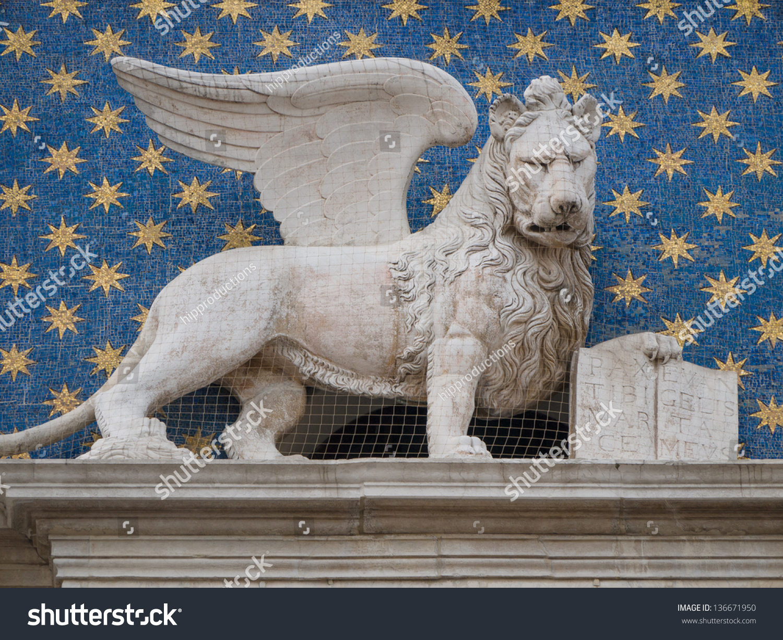Winged Lion St Mark Symbol City Stock Photo Edit Now 136671950