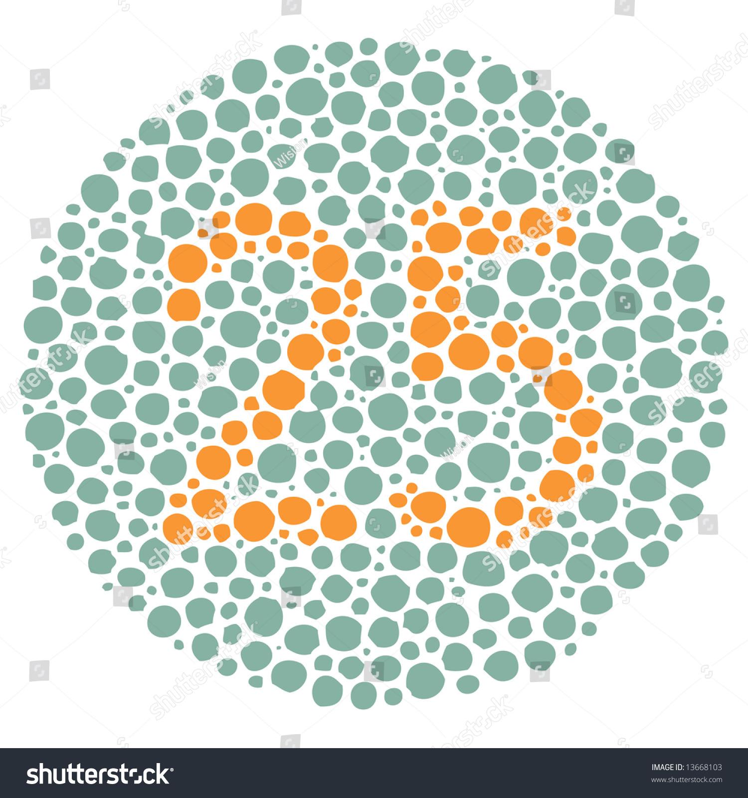 Color Blindness Test Stock Vector Shutterstock