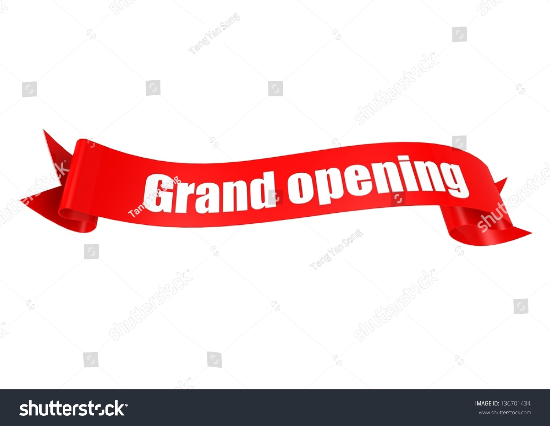 Grand Opening Ribbon Stock Illustration 136701434