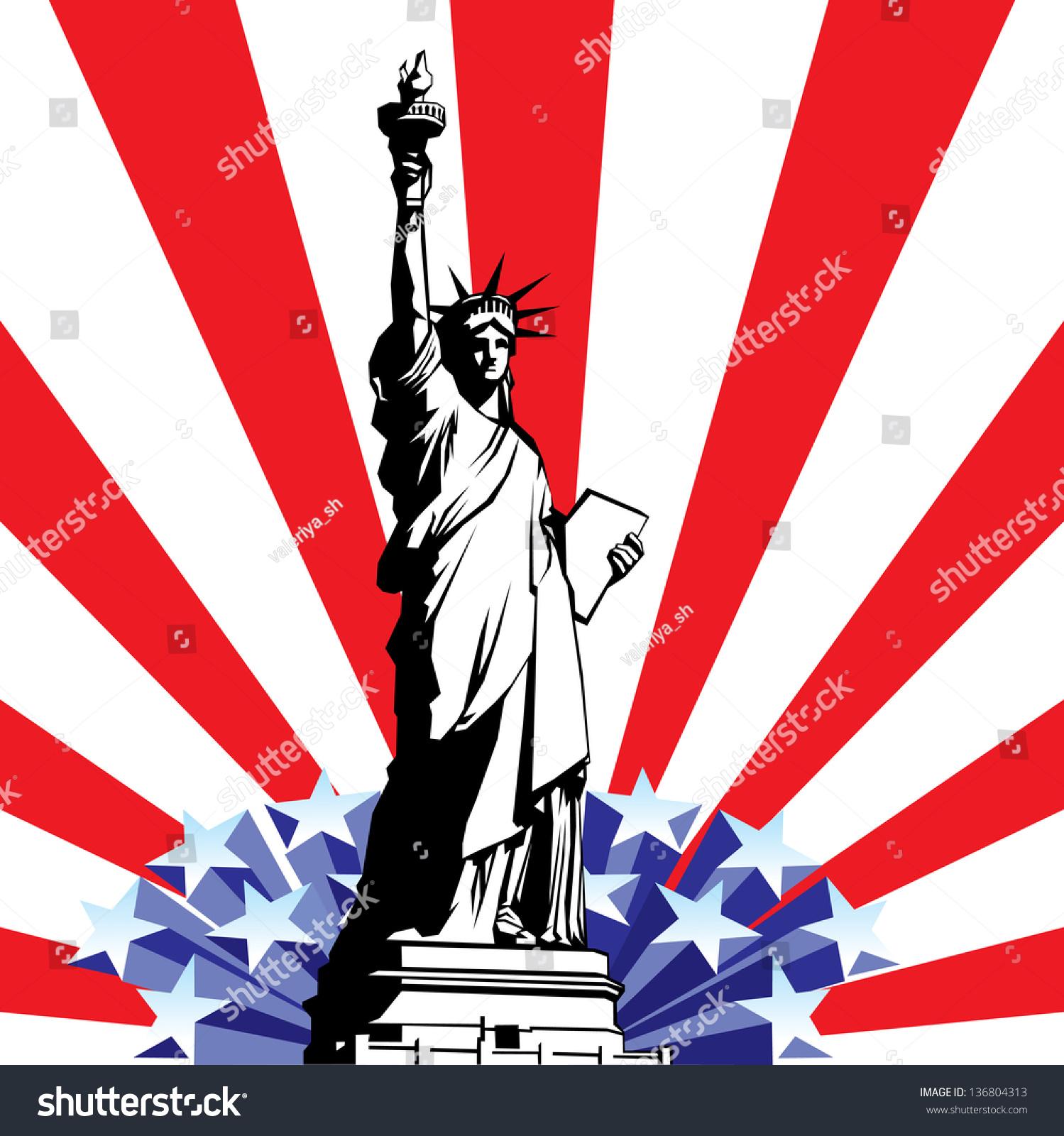 image american symbols freedom statue liberty stock