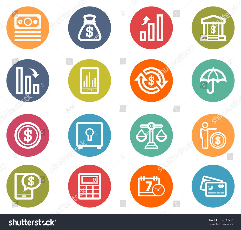 Finance Icon Set: Finance Icon Set Stock Vector 136838552