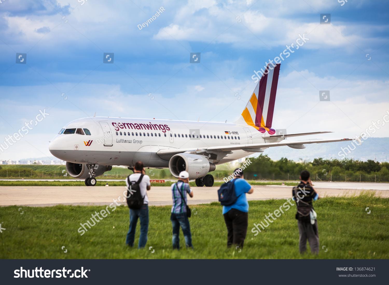 Zagreb, Croatia - Apr 28: Germanwings Airbus A319-100 ...