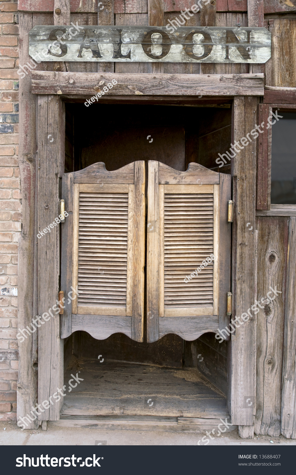 Old Western Swinging Saloon Doors Saloon Stock Photo