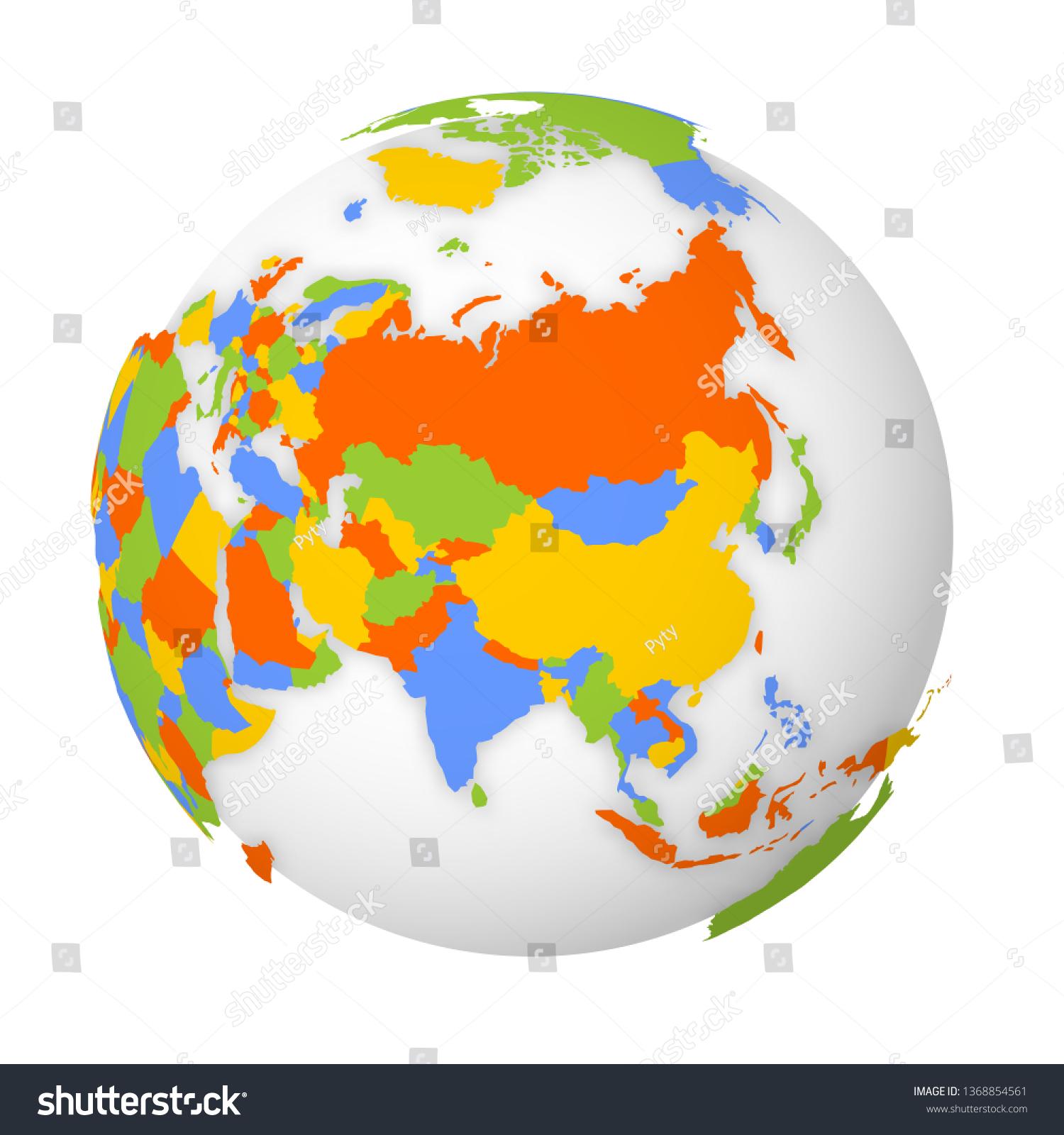 Picture of: Vector De Stock Libre De Regalias Sobre Blank Political Map Asia 3d Earth1368854561
