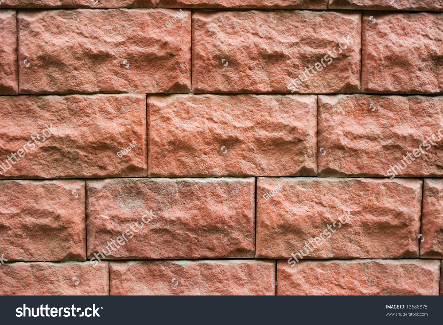 Red Natural Stones : Pattern red rectangular natural stone textured stock photo