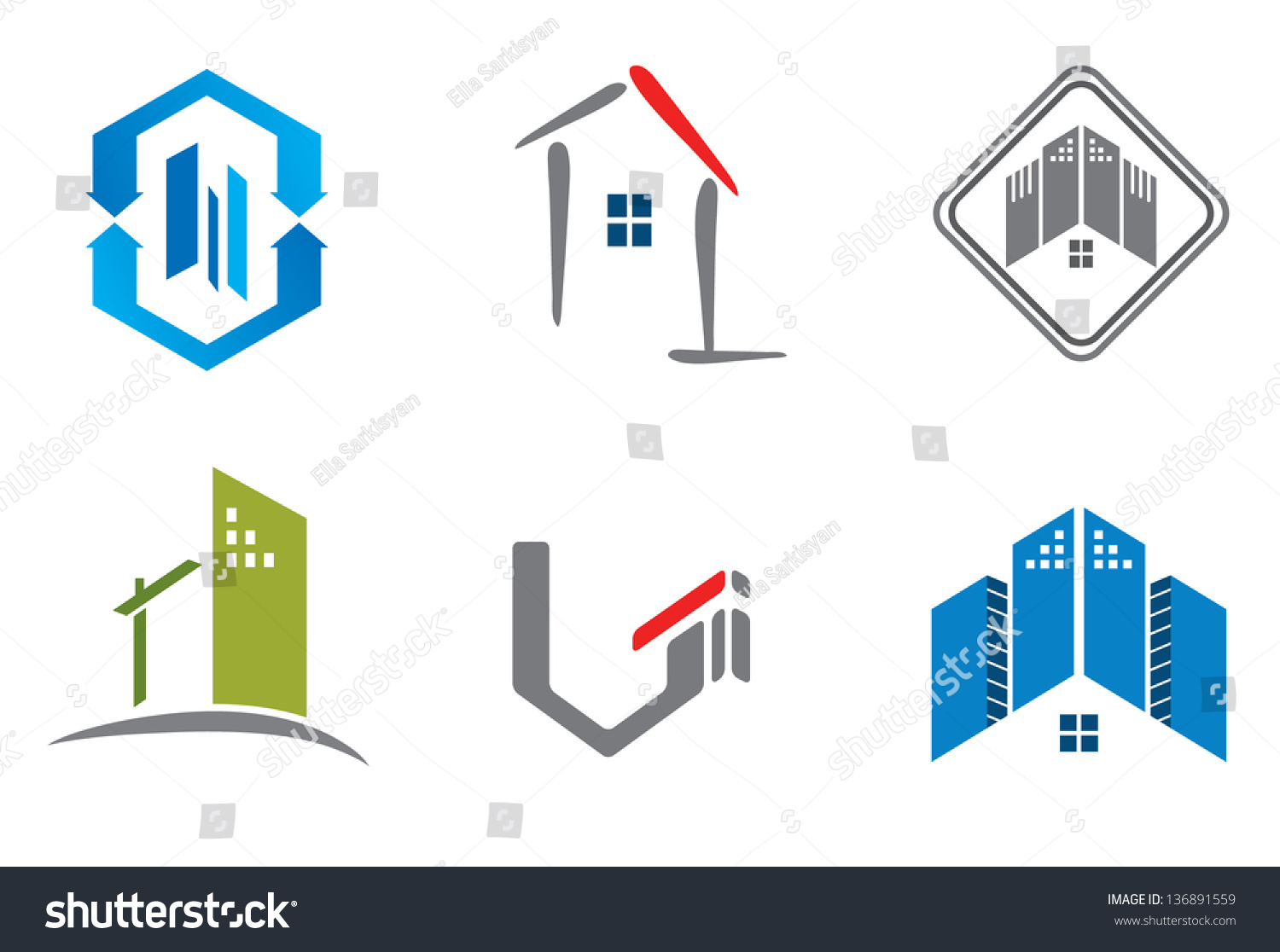 Real Estate Calendar Design : Real estate design elements logo designing stock vector