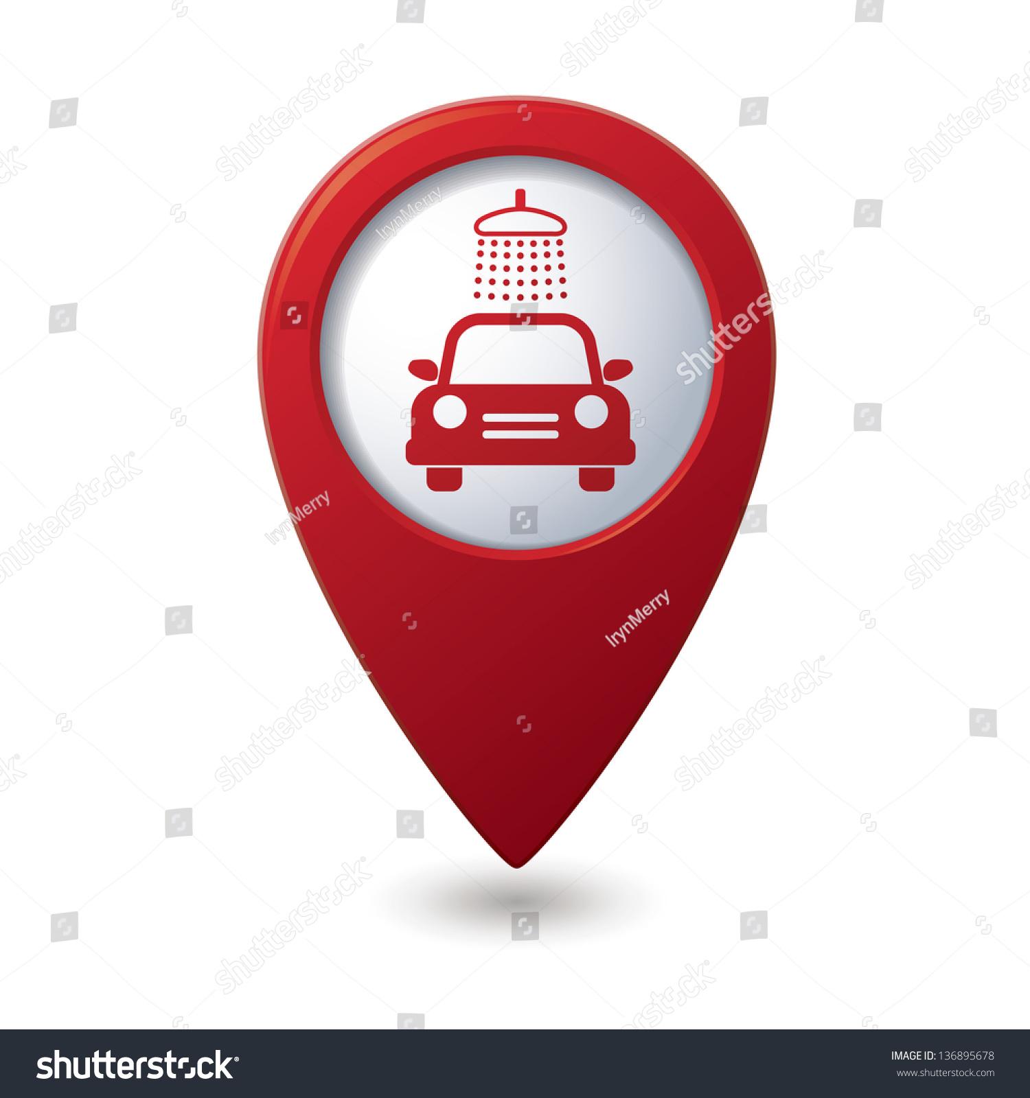 Car Wash Location Icon