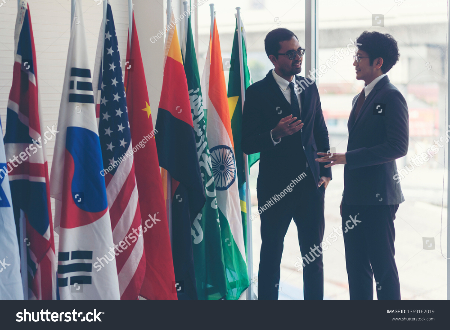 The picture shows the relationship between countries. Diplomatic relations And international business #1369162019