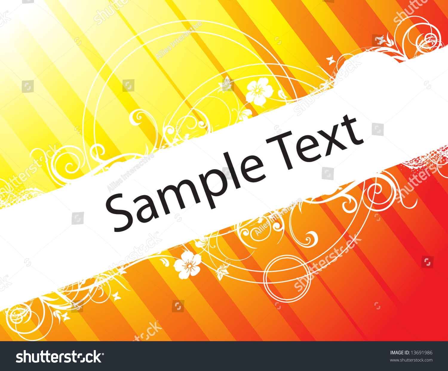 Abstract Floral Vector Design Element For Sample Text In