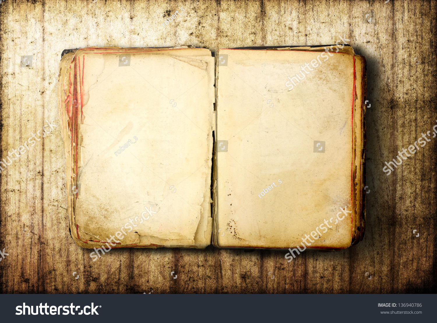 ... Book Blank On Old Wood Background Stock Photo 136940786 : Shutterstock: www.shutterstock.com/pic-136940786/stock-photo-open-book-blank-on...