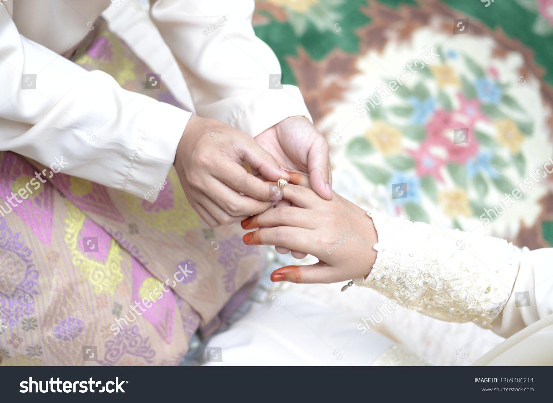 Malay Wedding Gifts Wearing Wedding Ring Stock Photo Edit Now