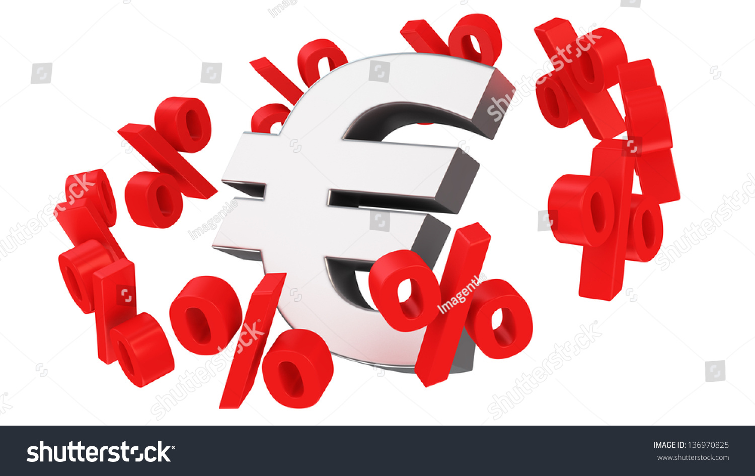 Discount Orbit Around Euro Symbol Stock Illustration 136970825