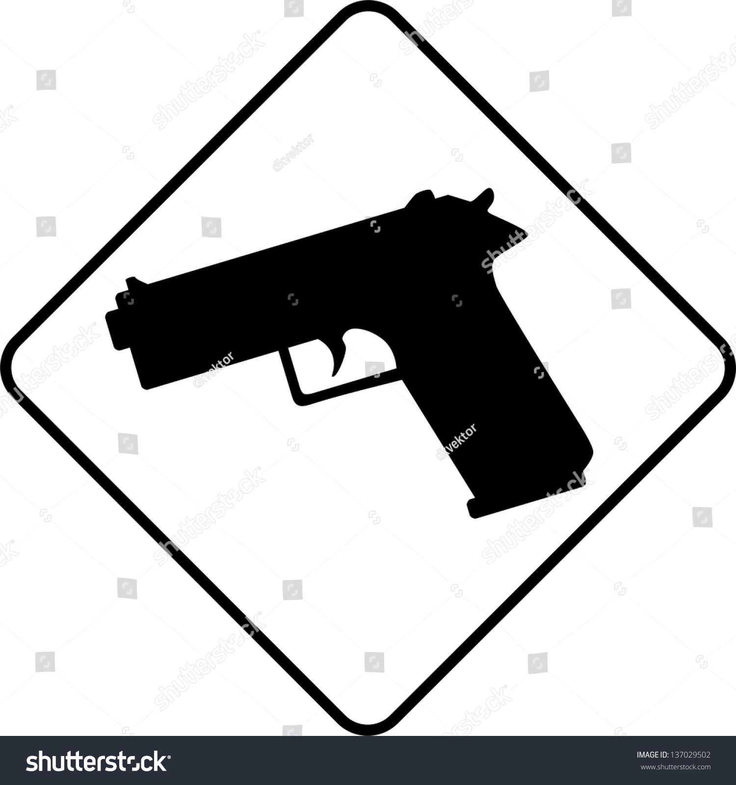 Warning symbol guns stock vector 137029502 shutterstock warning symbol guns biocorpaavc