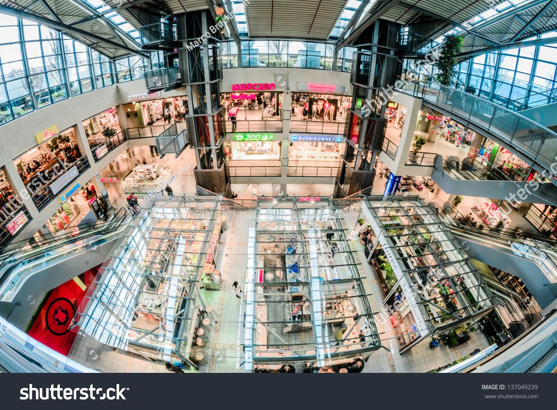 hamburg germany april 13 shopping center stock photo 137049239 shutterstock. Black Bedroom Furniture Sets. Home Design Ideas